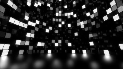 Neon Tiles Light Stage Revolving - White - Dots Slow Animation