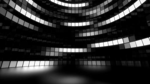 Neon Tiles Light Stage Revolving - White - Random Vertical Lines Animation