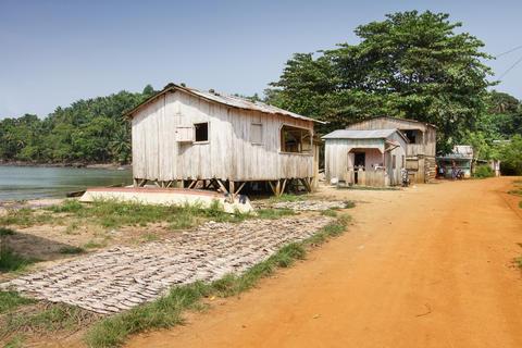 Village Abade, Principe, Africa フォト
