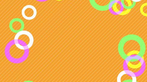 colorful circle slowly moving orange background, Stock Animation