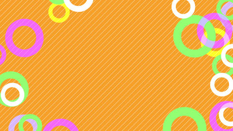 colorful circle slowly moving orange background CG動画素材