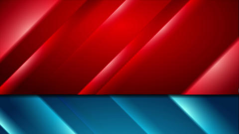 Contrast red and blue glowing stripes video animation Animation
