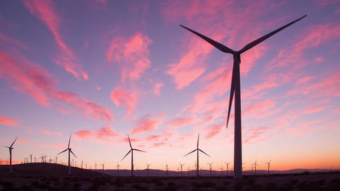 Wind Turbines for Renewable Electric Energy Production Footage