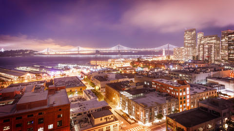 San Francisco Night Time Lapse Live Action
