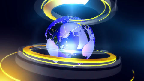 Globe ring background blue CG動画素材