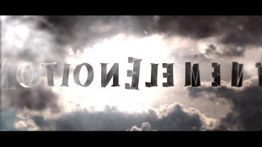 SKY TEXT INTRO 3D After Effects Template