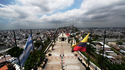 Guayaquil Flags and Church Footage
