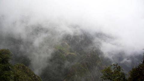 Foggy Machu Picchu Footage
