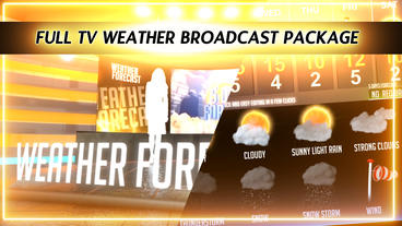 Weather Forecast Broadcast Package - Virtual Studio After Effects Template