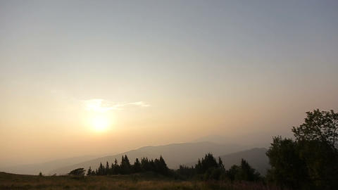 Sunset In Mountains, Sunset, Landscape stock footage