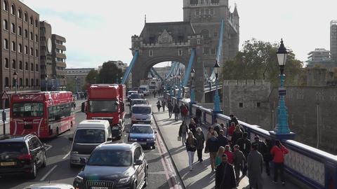 The London Tower Bridge - LONDON, ENGLAND Live Action