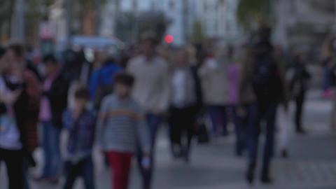 Walking people blurred scene - LONDON, ENGLAND Live Action