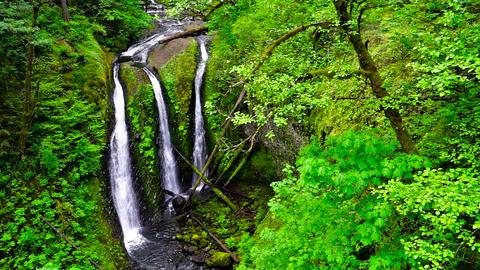 Triple Falls in Oregon Footage