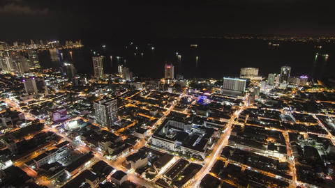 Timelapse of Georgetown city at night with traffic Footage