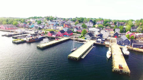 Lunenburg, Nova Scotia, Canada Unesco World Heritage Site Footage