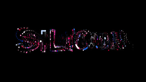 Letters are collected in Element of periodic table SILICON, then scattered into Animation