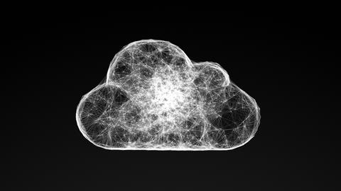 model of cloud computing, abstract geometric composition Animation
