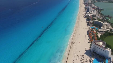 Cancun Mexico, coast beach, the view from the heights (time-lapse) Footage