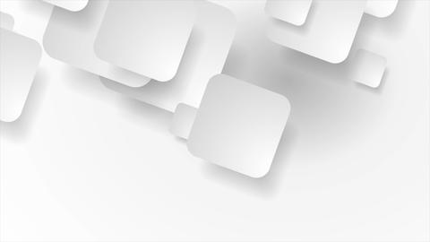 White and grey paper squares geometric video animation Image