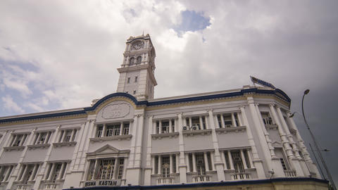 Timelapse Old Customs building at Georgetown World Heritage site Footage