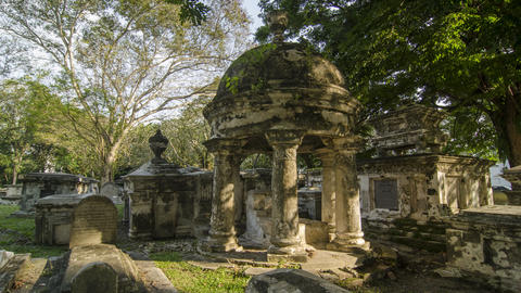Timelapse of heritage Old Protestant Cemetery, George Town Footage