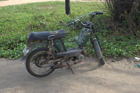 Old retro motorcycle Fotografía
