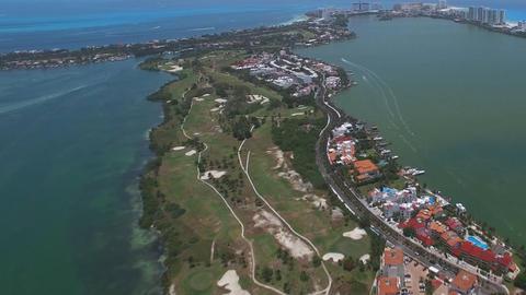 Cancun Mexico, coast beach (drone shot) Footage