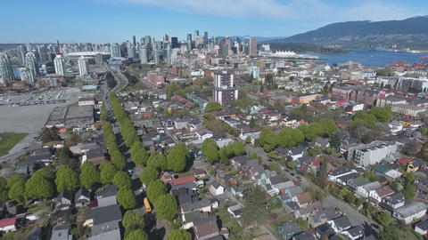 Canada, Vancouver, panorama of the city from a height Live Action