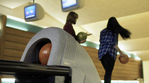 Young people talking in bowling club 영상물