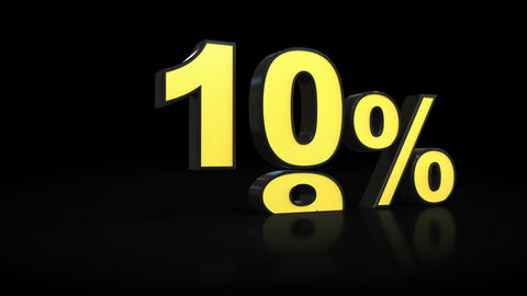 Counting from zero 0 to forty-three 43 % percent 3D animation Footage