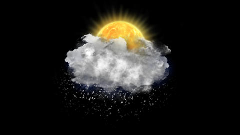 Sun Blizzard, Weather Forecast Icon with Alpha Channel Animación