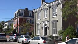 USA Virginia Norfolk noble villa with grey facade in historic district Footage