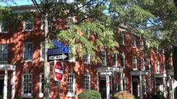 USA Virginia Norfolk house corner Collage Place & Dunmore Street Footage