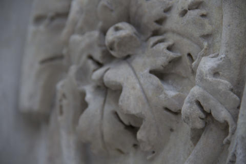 close up of the Ara Pacis Augustae, Rome Photo