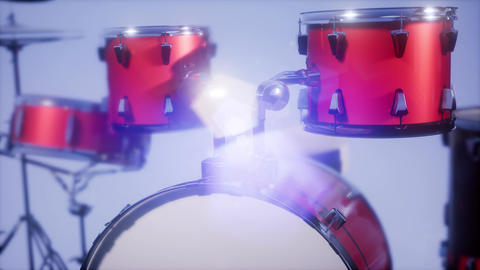 4k drum set with DOF and lense flair Archivo