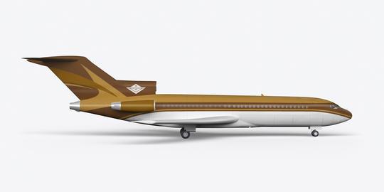 Passenger plane BOEING 727 3D render on a white background フォト