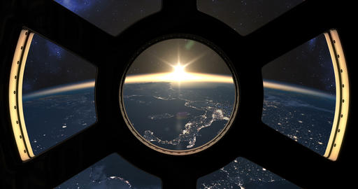 Slow sunset seen from the ISS Image
