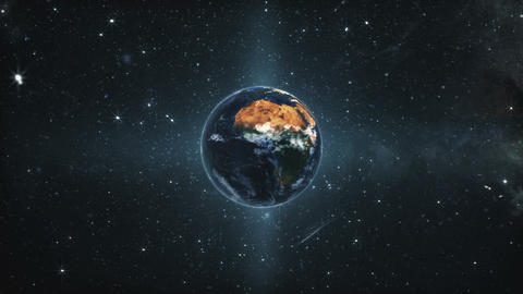 Planet Earth Rotate in Deep Space GIF