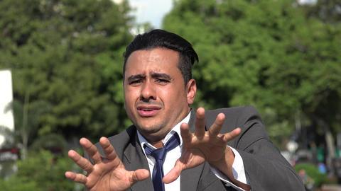 C0087 fearful hispanic business man Live Action