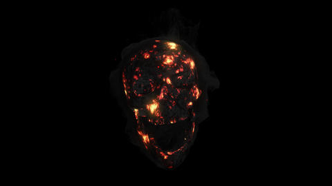 Animation fire a smoking skull with an alpha channel Animation