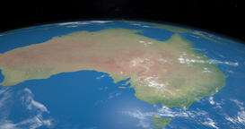 Australia in planet earth gyrating from the outer space Animation