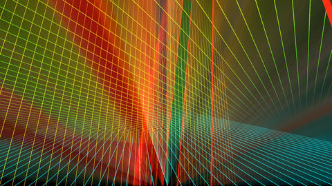 VJ Laser Grid Space Animation