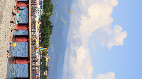Vertical video. City Beach. Sochi, Russia Footage