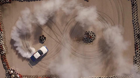 Driver's Amazing Drift Show, Aerial View Footage