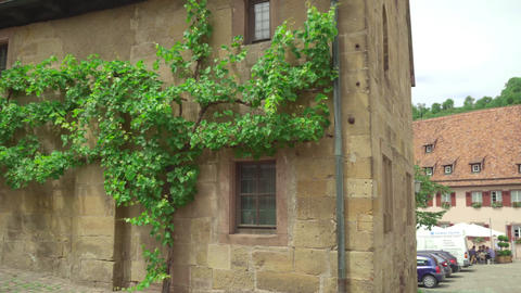 Ancient house in Kloster Maulbronn, monastery Live Action