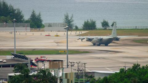 Hercules Lockheed C-130H Footage