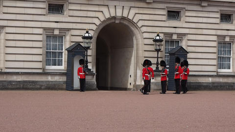 Buckingham Palace in London Live Action