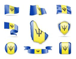 Barbados Flags Collection ベクター