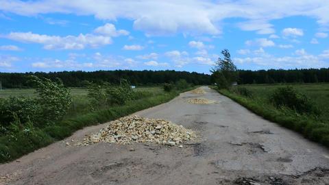 Very bad dirt road Footage