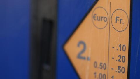 Parking Meter in Switzerland Footage